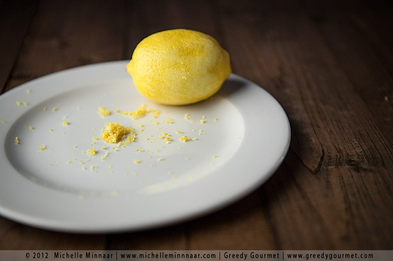Grated lemon peel