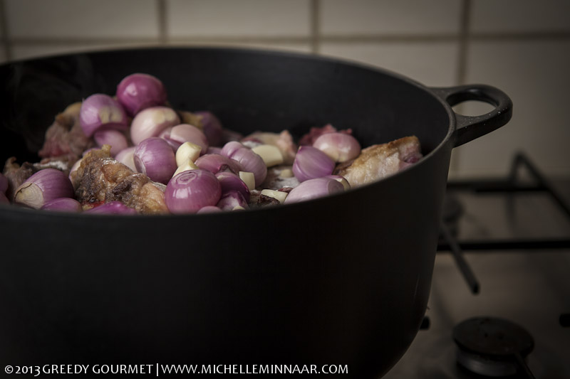 Onions & Garlic in oxtail stew