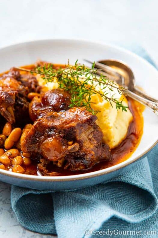Bowl of braised oxtail
