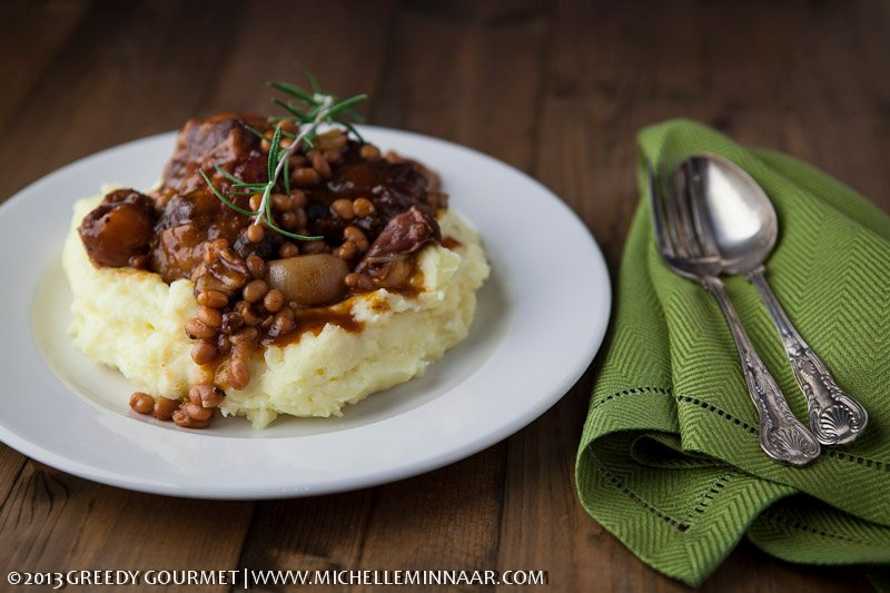 Oxtail Stew on Potato Mash