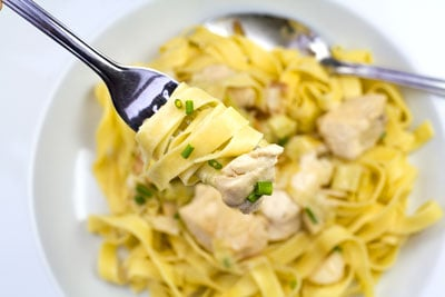 Chicken & Leeks with a Creamy Cider Sauce
