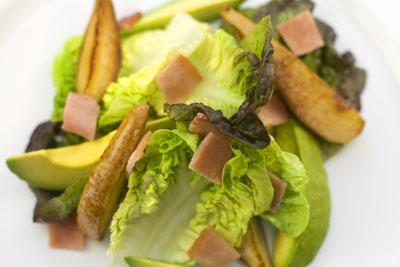 Avocado, Pear and Bacon Salad