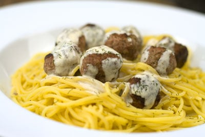 Lamb Meatballs with a Creamy Dill Sauce