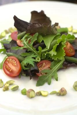 French Bean, Tomato and Pistachio Salad