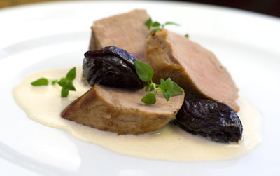 Pork Fillet & Prunes with a Creamy Sauce