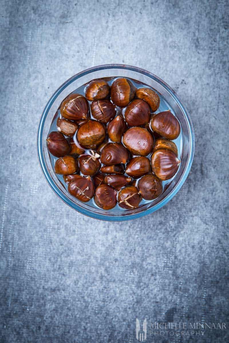 In Water Soak Chestnuts
