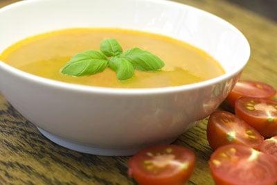 Tomato, Borlotti Bean and Garlic Soup
