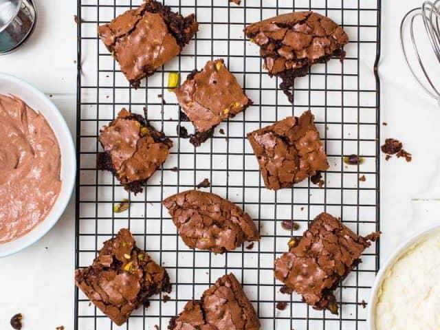 Brownies Chocolate Pistachio