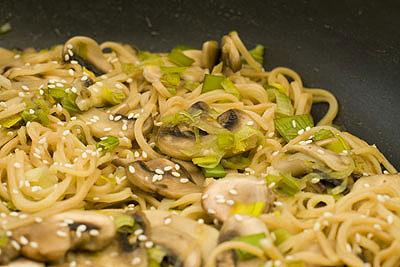 Leek & Mushroom Egg Noodles