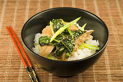 Pork & Spinach Stir-Fry