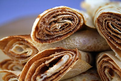 Pancakes with Cinnamon & Sugar
