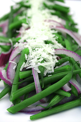 Green Bean, Red Onion & Pecorino Salad