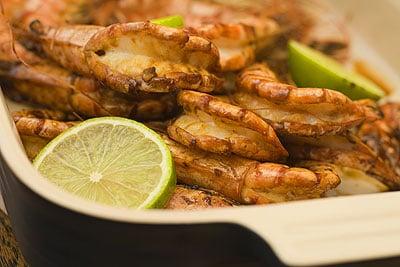 Pan-fried Soy & Honey Prawns