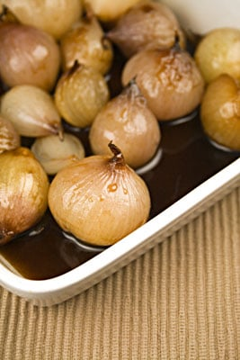 Tangy Honey-Glazed Shallots