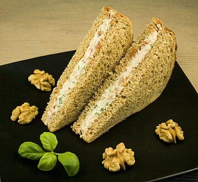 Goat's Cheese, Sundried Tomato & Walnut Sandwich