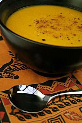 Baked Kabocha Squash & Butter Bean Soup