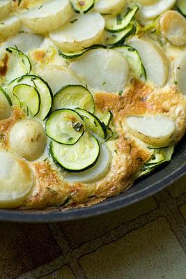 New Potato, Courgette & Tarragon Tortilla