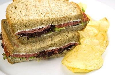 Pastrami & Cream Cheese Sandwich