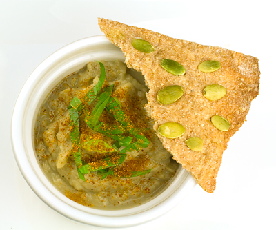 Lavash Crackers with Baba Ghanoush