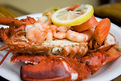 Lobster & Pickled Vegetables - London's Oyster & Seafood Fair
