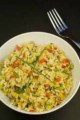 Courgette, Red Pepper & Mushroom Rice