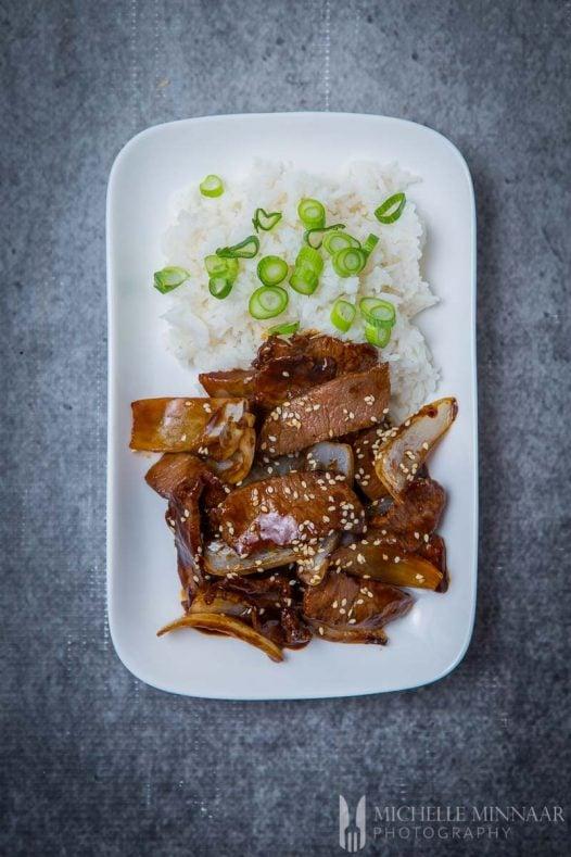 Stir Fry Mongolian Lamb