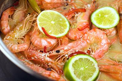 Prawns (Shrimp) in Spicy Coconut Sauce