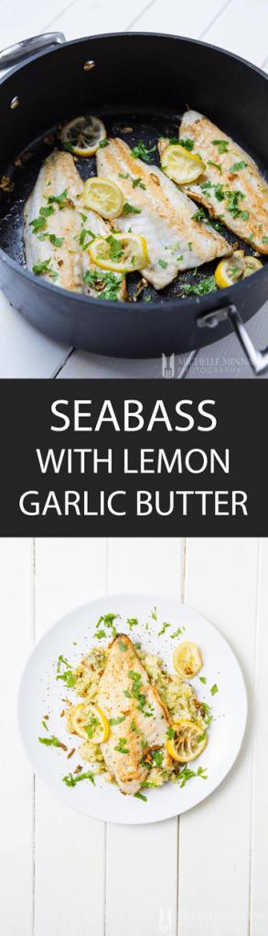 Seabass Lemon Garlic Butter