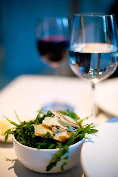 Rocket Salad with Parmesan Shavings and Balsamic Vinegar