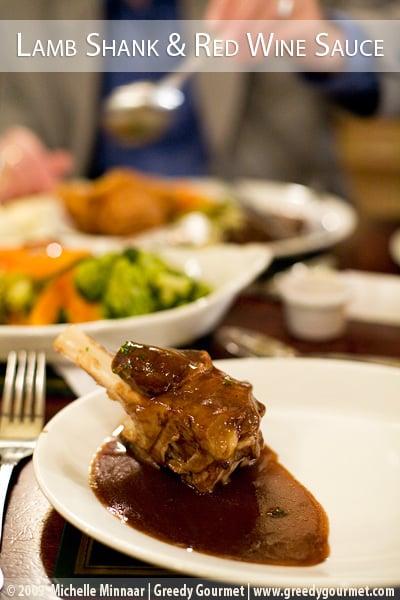 Braised Lamb Shank & Red Wine Sauce