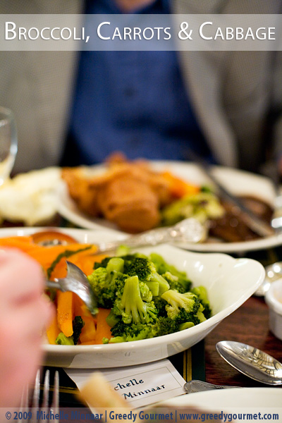 Broccoli, Carrots & Cabbage