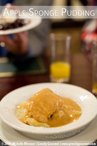 Apple Sponge Pudding with Toffee Sauce