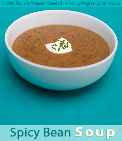 Spicy Red Kidney Bean and Black Bean Soup