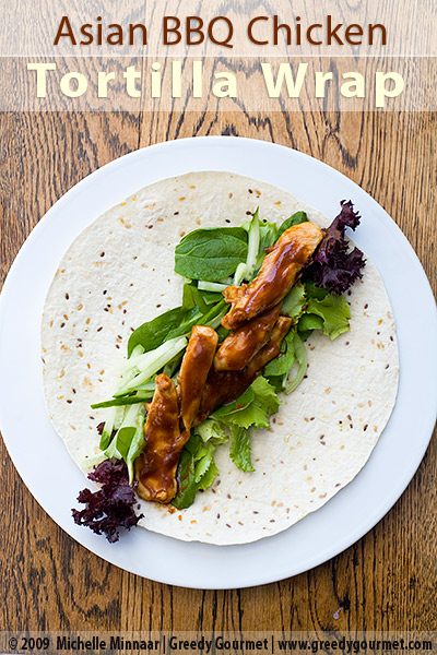 Asian BBQ Chicken Tortilla Wraps