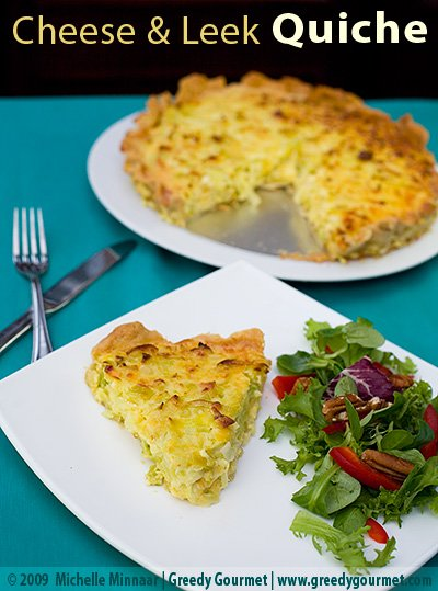Cheese & Leek Quiche