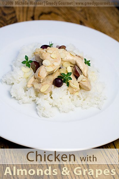Chicken with Almonds & Grapes