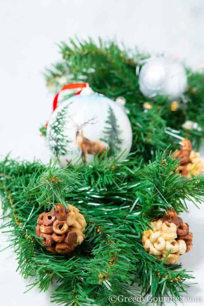 Christmas tree with chocolate balls