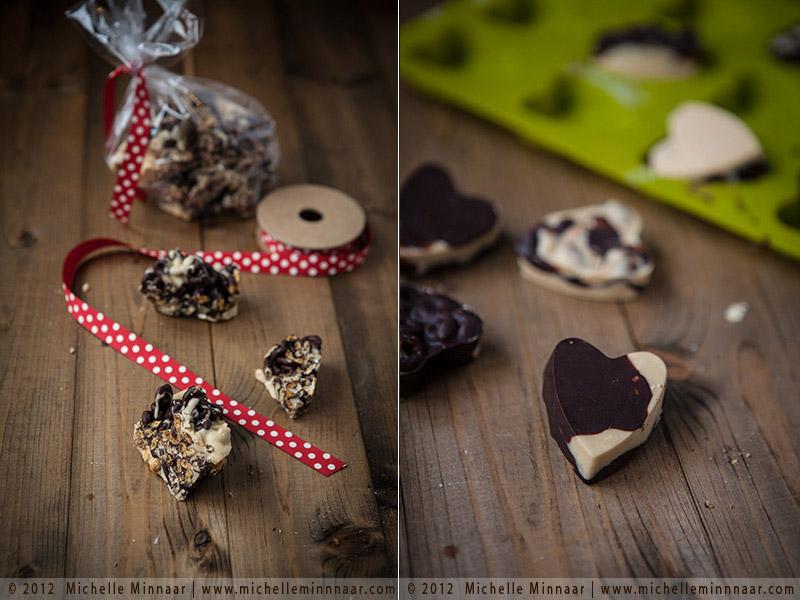 Wrapping Xmas Heart Chocolates