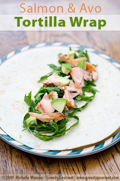 Salmon & Avocado Pear Tortilla Wraps