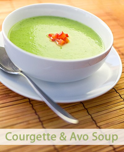 Courgette and Avocado Pear Soup