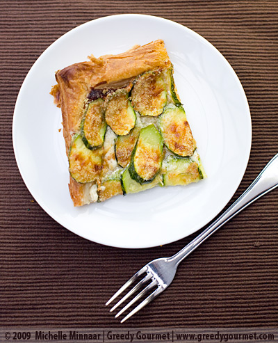 Courgette, Mascarpone and Parmesan Tart