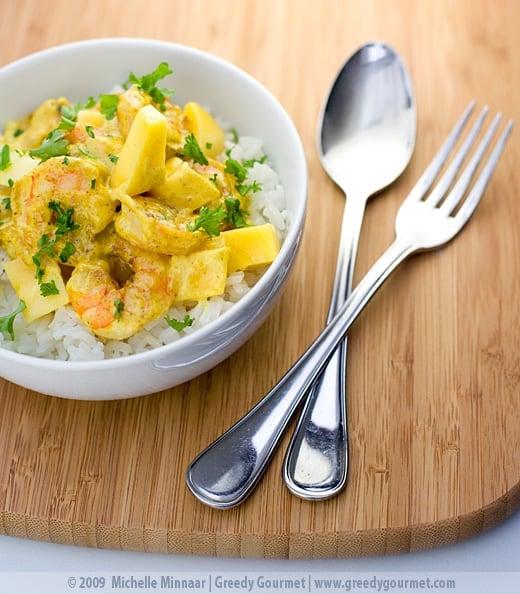Creamy Prawn & Mango Curry
