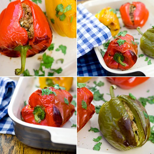 Bell Peppers Stuffed With Couscous, Pine Nuts and Raisins