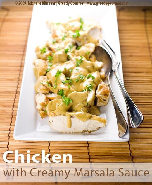 Chicken with Creamy Marsala Sauce