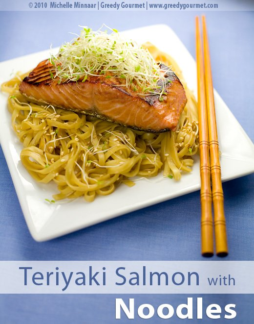 Teriyaki Salmon with Stir Fried Noodles