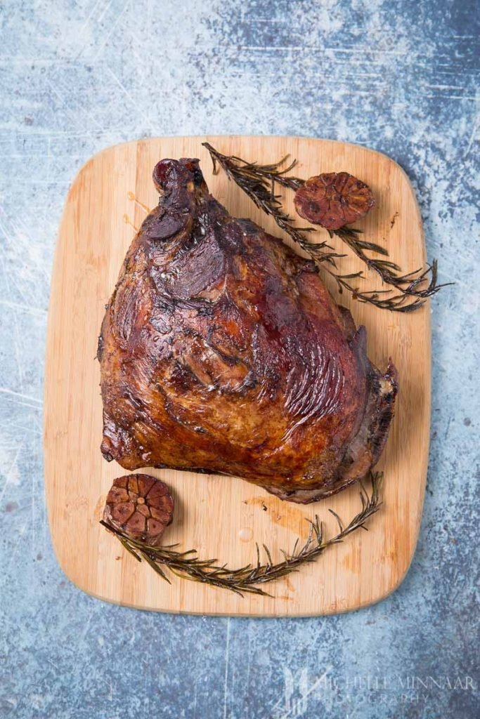 Lamb Shoulder on a cutting board