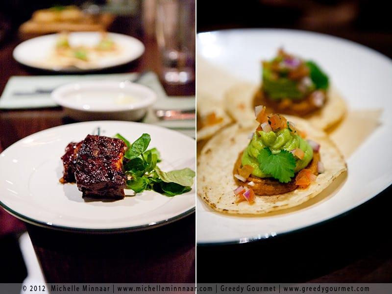 Short Rack of Ribs & Refried Bean & Avocado Tostados