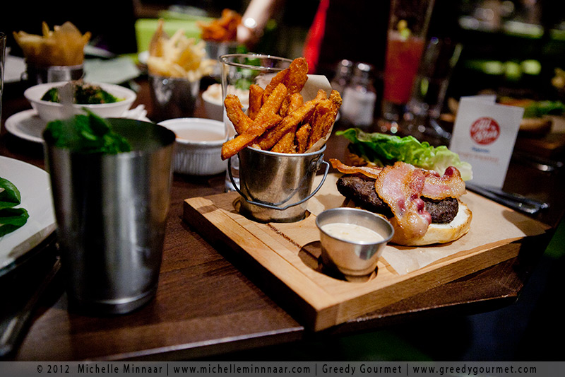 All Star 8oz Prime Beef Burger & Sweet Potato Fries