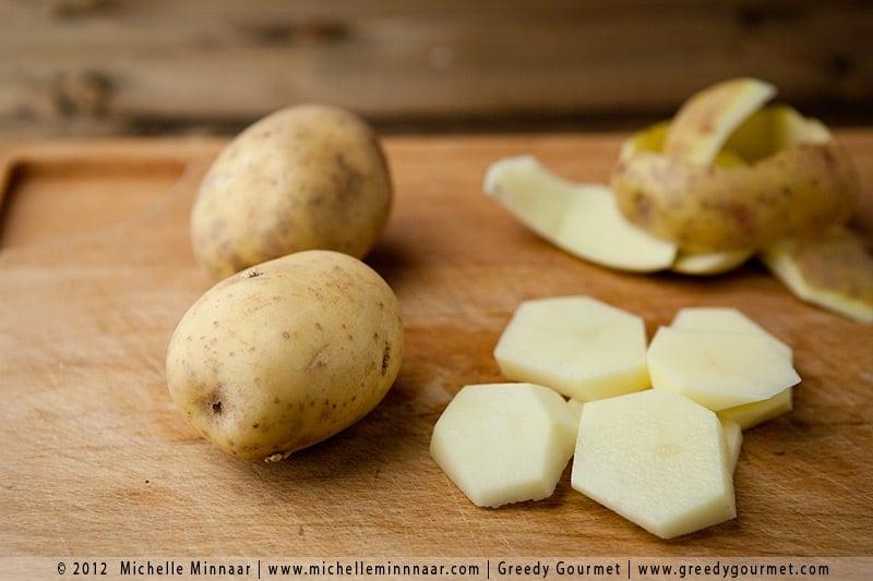Peeled and Chopped Potatoes for Leek & Potato Soup