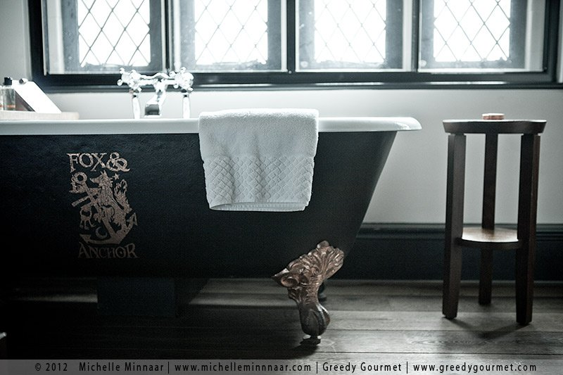 Burnished Copper Bath at the Fox & Anchor in London